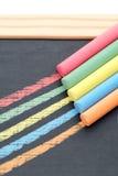 Tizas coloreadas Foto de archivo libre de regalías