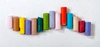 Tizas coloreadas Fotos de archivo libres de regalías