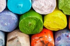 Tizas coloreadas Imagen de archivo libre de regalías