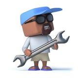tizio del marinaio 3d che tiene una chiave royalty illustrazione gratis