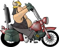 Tizio del motociclista illustrazione vettoriale
