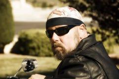 Tizio del motociclista Immagini Stock Libere da Diritti