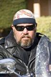Tizio del motociclista Fotografie Stock