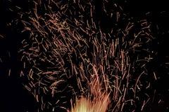 Tizzoni aumentanti, fuoco sull'alto calore fotografia stock