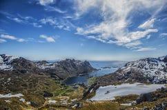 Tjønndalen im vestvågøya, lofoten Inseln Stockfotografie
