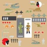 Tjäna som soldat infographic Fotografering för Bildbyråer
