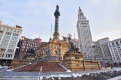 Tjäna som soldat monumentet för ` s och för sjöman` s i i stadens centrum Cleveland Royaltyfria Bilder