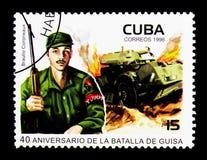 Tjäna som soldat och tanka, årsdag 40 av striden av Guisa serie, c Royaltyfri Bild