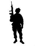 tjäna som soldat oss Royaltyfri Foto