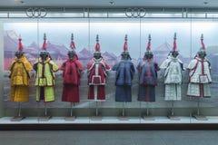 Tjäna som soldat qing dynasti för kines harnesk royaltyfria bilder