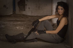 Tjäna som soldat Silvia arkivbild