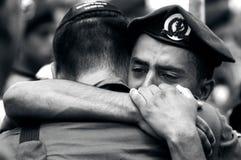 Tjäna som soldat sorg Arkivfoto