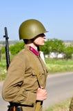 tjäna som soldat sovjet royaltyfria foton