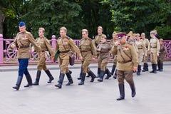 tjäna som soldat sovjet Arkivbilder