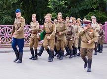 tjäna som soldat sovjet Royaltyfri Foto