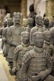 tjäna som soldat terrakotta Arkivbild