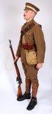 Tjäna som soldat yeomanry kavalleri för storkriget 1914 Arkivbilder