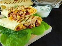Tjänad som burrito Royaltyfri Fotografi