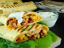 Tjänad som burrito Royaltyfri Bild