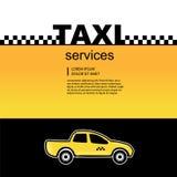 Tjänste- bakgrund för taxi stock illustrationer