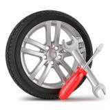 Tjänste- begrepp för bil Fotografering för Bildbyråer