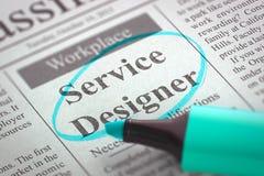 Tjänste- formgivare Job Vacancy 3d Arkivfoton