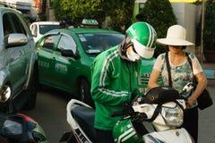 Tjänste- hastigt greppcykel i Sai Gon, Vietnam Royaltyfria Foton