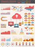 Tjänste- Infographic för moln beståndsdelar Royaltyfria Bilder