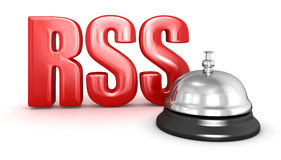 Tjänste- klocka och RSS Royaltyfria Foton