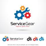 Tjänste- kugghjul Logo Template Design Vector Stock Illustrationer