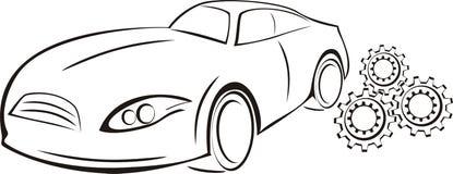 Tjänste- logo för bil Royaltyfria Foton