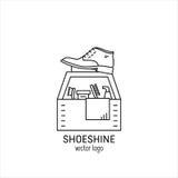 Tjänste- logo för skokräm Fotografering för Bildbyråer