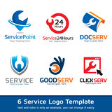Tjänste- Logo Template Design Vector Royaltyfri Illustrationer