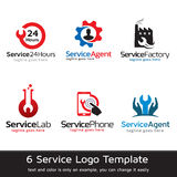 Tjänste- Logo Template Design Vector Royaltyfria Bilder