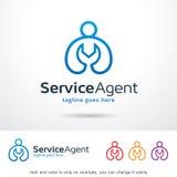 Tjänste- medel Logo Template Design Vector Vektor Illustrationer