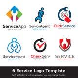 Tjänste- medel Logo Template Design Vector Royaltyfri Illustrationer