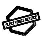Tjänste- rubber stämpel för elektronik vektor illustrationer