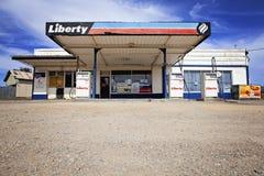 Tjänste- station, Myponga, södra Australien Arkivfoto