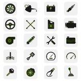 Tjänste- symboler för bil Arkivbilder