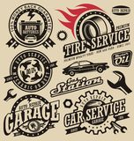 Tjänste- symboler för bil Royaltyfria Foton