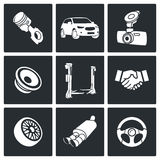 Tjänste- symbolsuppsättning för automatisk Royaltyfri Foto