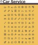 Tjänste- symbolsuppsättning för bil Royaltyfri Bild
