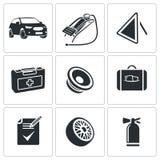 Tjänste- symbolsuppsättning för bil Arkivbilder