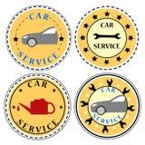 Tjänste- symbolsuppsättning för bil Arkivfoton