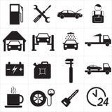 Tjänste- symbolsuppsättning för bil också vektor för coreldrawillustration Arkivbild