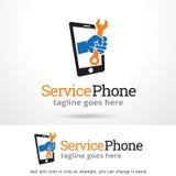 Tjänste- telefon Logo Template Design Vector Royaltyfria Foton