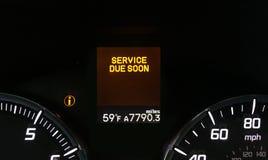 Tjänste- varningsljus för bil royaltyfri bild