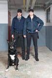 tjänstemän k9 förser med polis squaden Royaltyfria Bilder