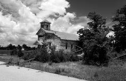 Tjäraliten vikSuperfund lokal Picher Oklahoma Christian Church royaltyfri foto