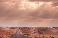 Tjäraväg i Lesotho Royaltyfri Bild